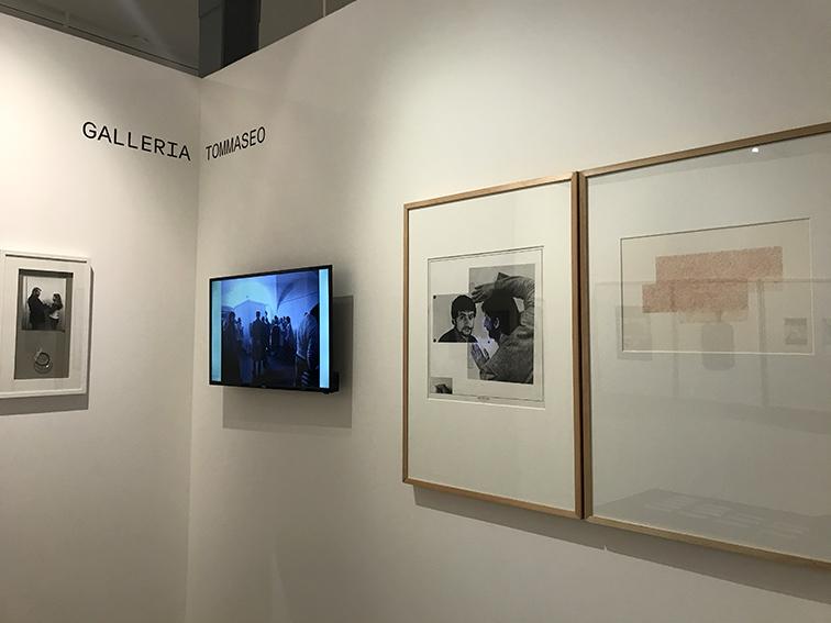 Galleria Tommaseo. Video di documentazione dell'attività con opere - da sinistra a destra - di Sanja Iveković, Celli&Piccolo, Rodolfo Aricò.