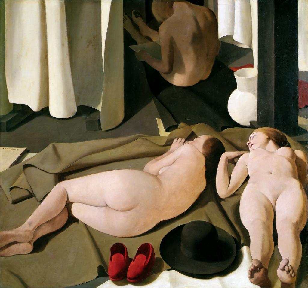 Felice Casorati, Meriggio, 1923, olio su tavola