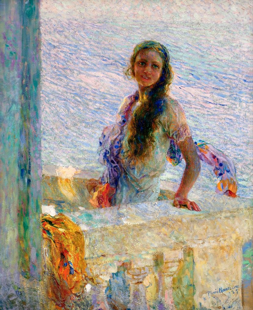 Plinio Nomellini, Primula, 1925, olio su tela