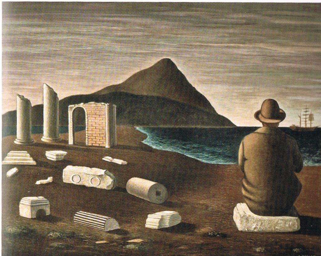 Arturo Nathan, Solitudine, 1930, tempera e olio su tavola, 81x100 cm