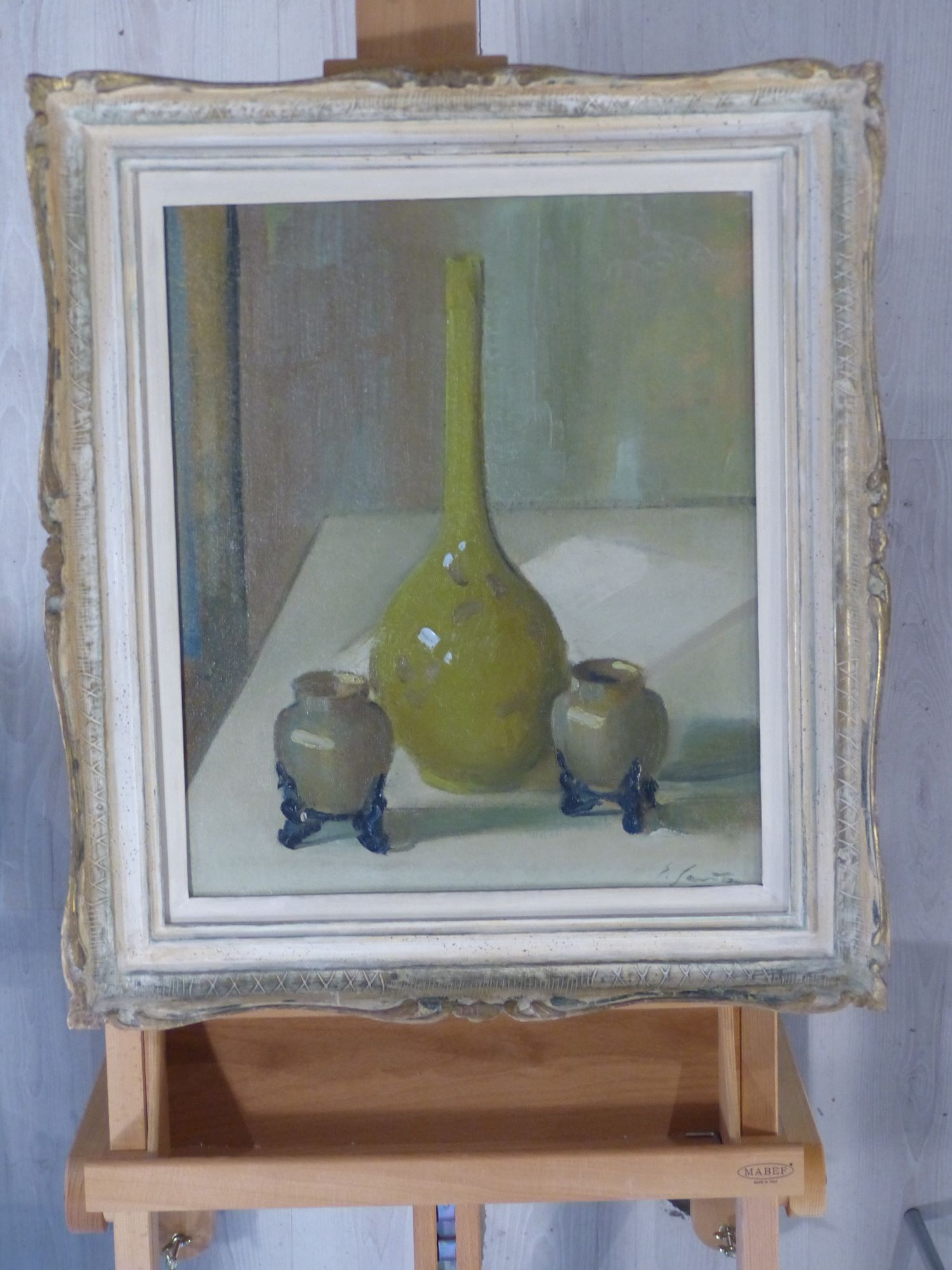 Edgardo Sambo Cappelletti, Vasi cinesi, olio su cartone, 1945 circa, 60x49 cm, inv. 5234